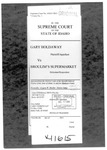 Holdaway v. Brolium's Supermarket Clerk's Record v. 1 Dckt. 41615