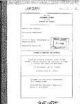 Bennett v State Dept. of Transp. Clerk's Record v. 1 Dckt. 35150