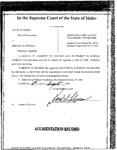 State v. Swindle Order Dckt. 34658