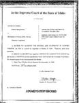State v. Ortiz Order Dckt. 35278