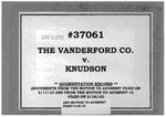 Vanderford Co., Inc. v. Knudson Augmentation Record Dckt. 37061