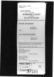 State v. Marsh Clerk's Record v. 1 Dckt. 37185