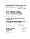 Security Financial Fund v. Thomason Appellant's Brief 1 Dckt. 37203