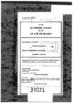 Kootenai County v. Harriman-Sayler Clerk's Record v. 1 Dckt. 39071