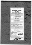 State v. Schall Clerk's Record v. 1 Dckt. 41645