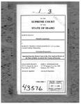 Frantz v. Hawley Troxell Ennis & Hawley LLP Clerk's Record v. 1 Dckt. 43576
