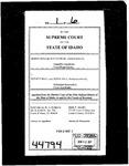 Irish v. Hall Clerk's Record v. 1 Dckt. 44794