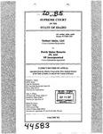 Valiant Idaho, LLC v. North Idaho Resorts, LLC Clerk's Record v. 20 Dckt. 44583