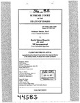 Valiant Idaho, LLC v. North Idaho Resorts, LLC Clerk's Record v. 36 Dckt. 44583