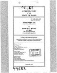 Valiant Idaho, LLC v. North Idaho Resorts, LLC Clerk's Record v. 54 Dckt. 44583